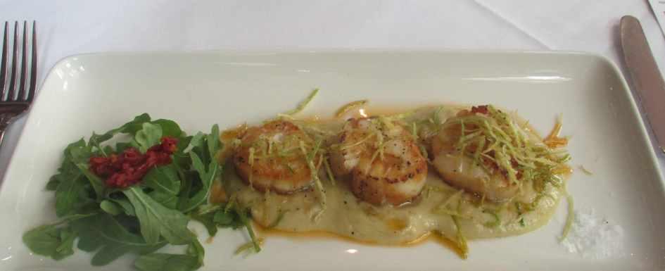Scallops Grilled at Sorrentino's Italian Restaurant in Edmonton
