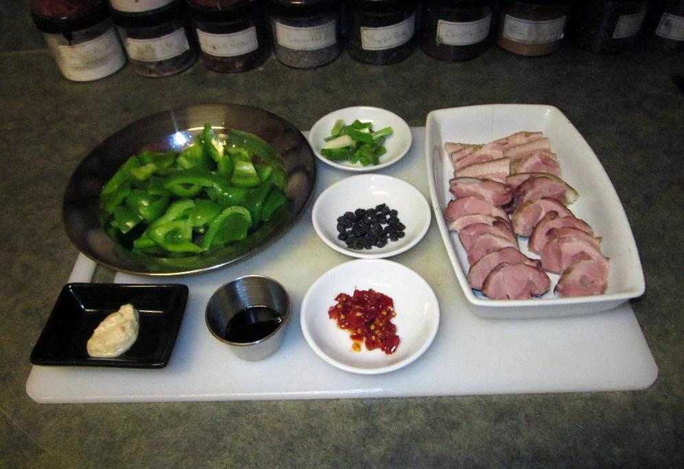 Ingredients for 湖南香辣火腿