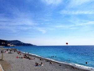 Nice along Promenade des Anglais