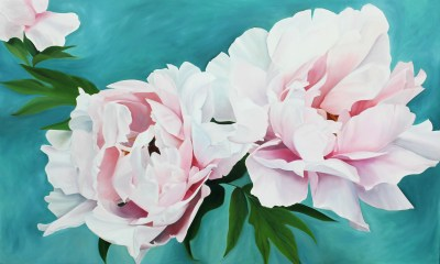 """""""The Courage It Took To Blossom"""" 36"""" x 60"""" Oil on Canvas SOLD"""