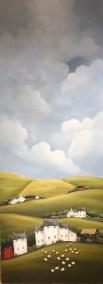 """""""Sussex Farm"""" 16"""" x 48"""" Acrylic on Canvas"""