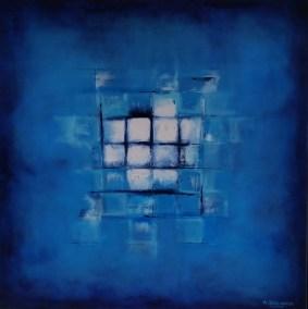 Andrew Stelmack Iced Cubes 48 x 48 Acrylic on Canvas
