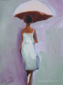 Peter Colbert Brolly 12 x 16 Acrylic on Canvas SOLD