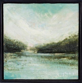 "Tanya Kirouac Frost 12"" x 12"" Encaustic on Panel (Framed) SOLD"