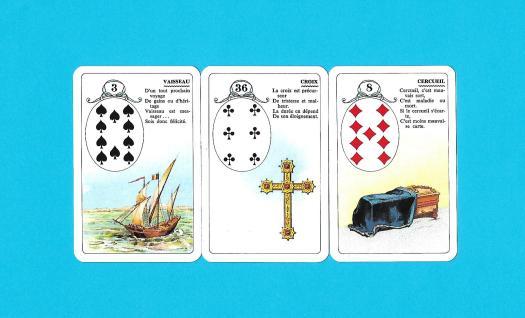 3 cartes de l'oracle du petit Lenormand