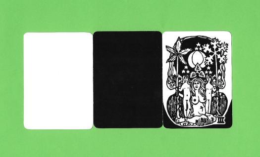 3 cartes du Psycho-Tarot d'Hurley et Horler