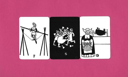 3 arcanes mineures du Psycho-Tarot d'Hurley & Horler