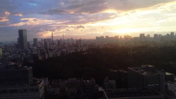 Sunrise in Tokyo