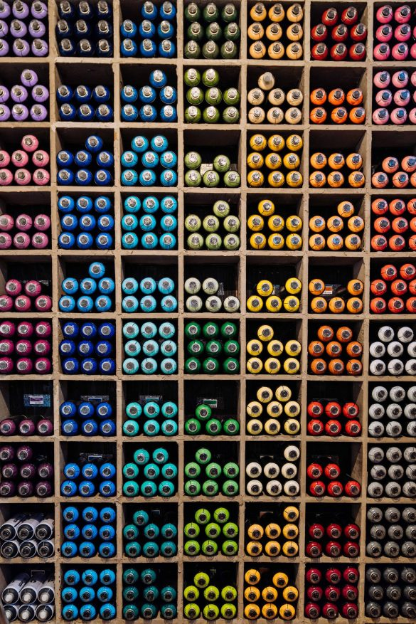 Colour sorted inventory