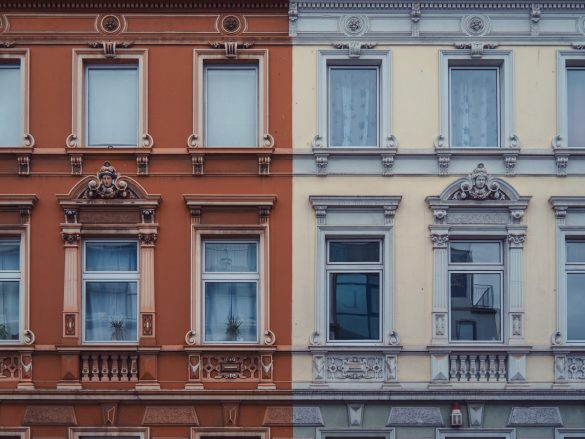 Two houses with different colors