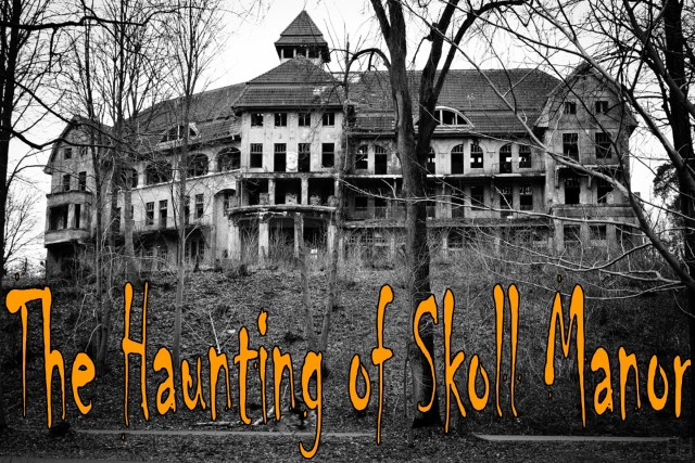 Logo for Haunting of Skoll Manor, an escape room at Syco Escape Rooms in Sycamore, IL