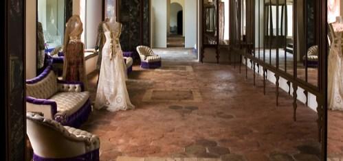 Ekspozycjęw tym muzeum projektowała sycylijski kreatorka mody, Marella.