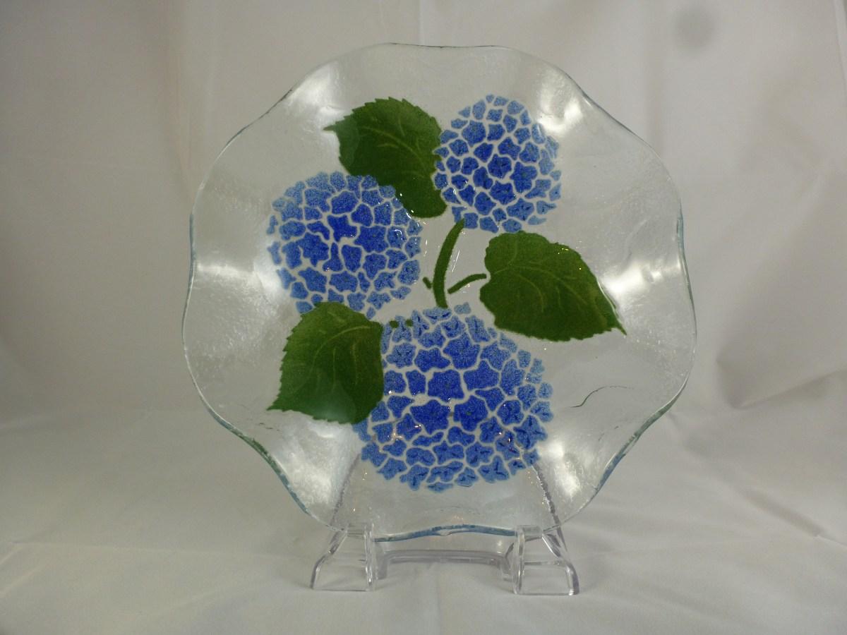 Hydrangea Wavy Salad Bowl