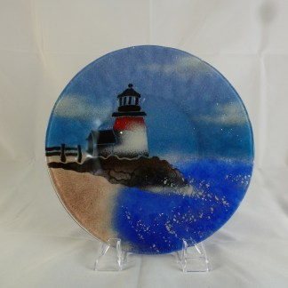 Lighthouse and Sailboats