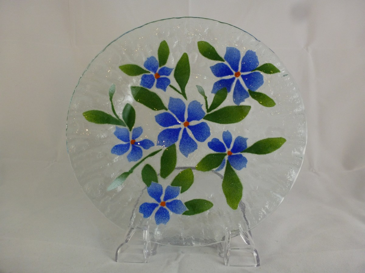 Blue Periwinkle Luncheon Plate