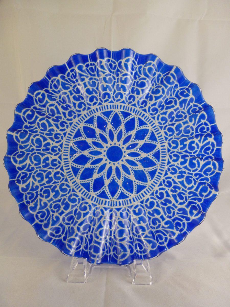 Cobalt Embassy Scallop Plate