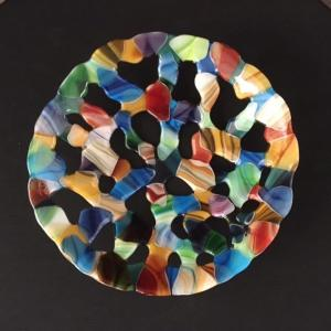 Engler Glass Large Opaque Erosion Bowl