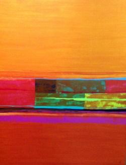 Abstract Vert Orange