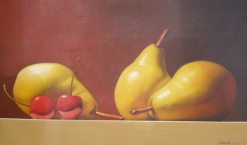 Newton Pears with Cherrries