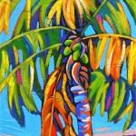 Coconut Jazz in Blue 37 x 18 Acrylic