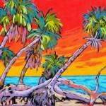 Driftwood & Palms 18x24 Pastel