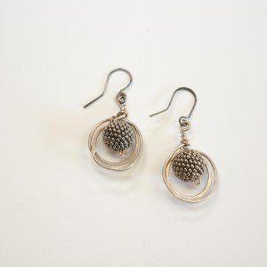 Silver Orbit Earrings