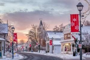 Unionville Main Street in the Winter - Credit: Lorne Chapman