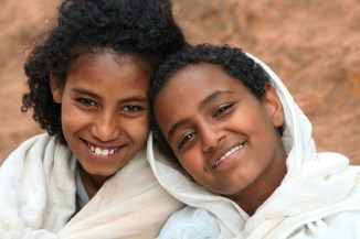 Young smiling locals at Lalibela
