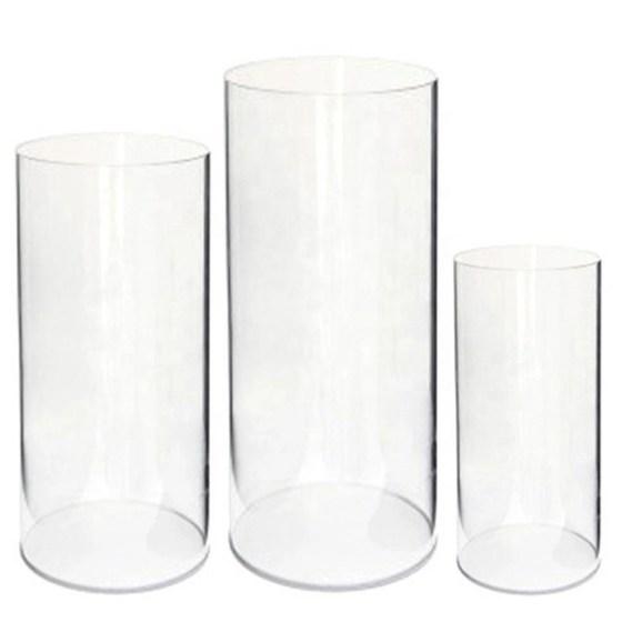 Set of 3 Clear Plinth