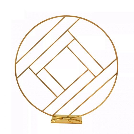 Mirror Gold Round Geometric Backdrop (200cmH)