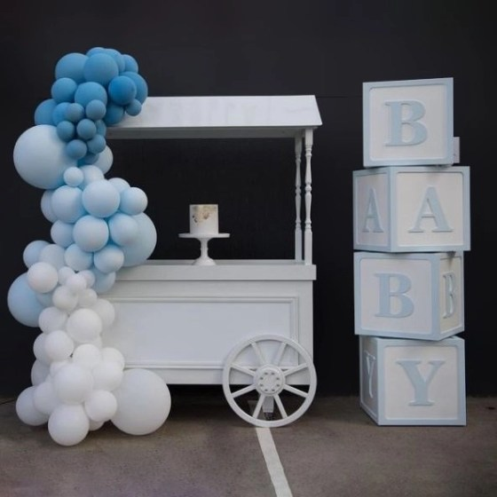 Blue Baby Letter Box
