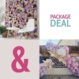 Package Deal Flower wall and Backdrop