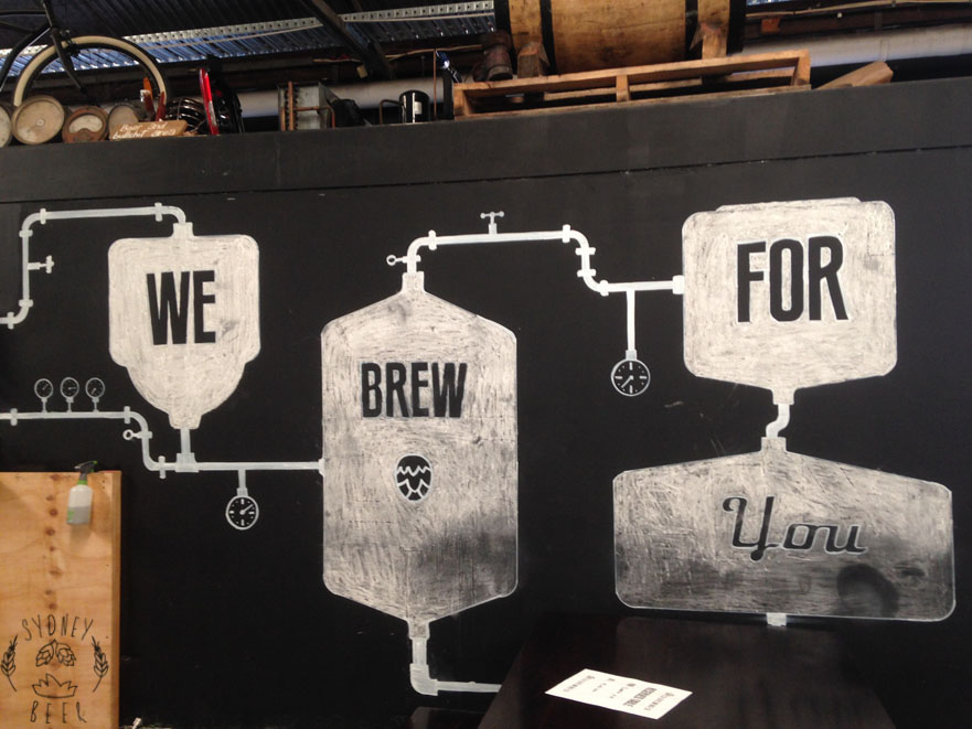 Batch Brewing chalk board