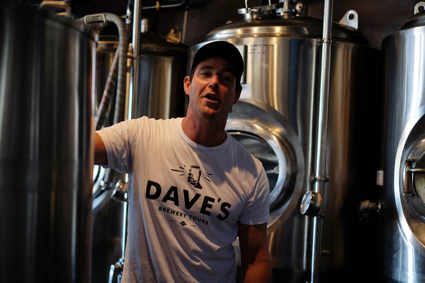 Jamie Carlyon, Dave's Brewery Tours