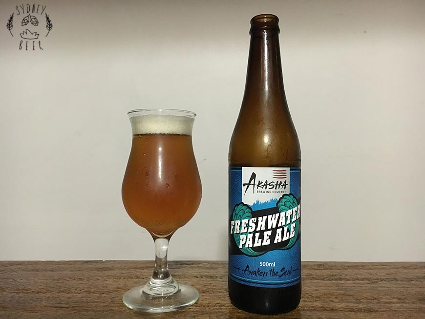 Akasha Freshwater Pale Ale bottle