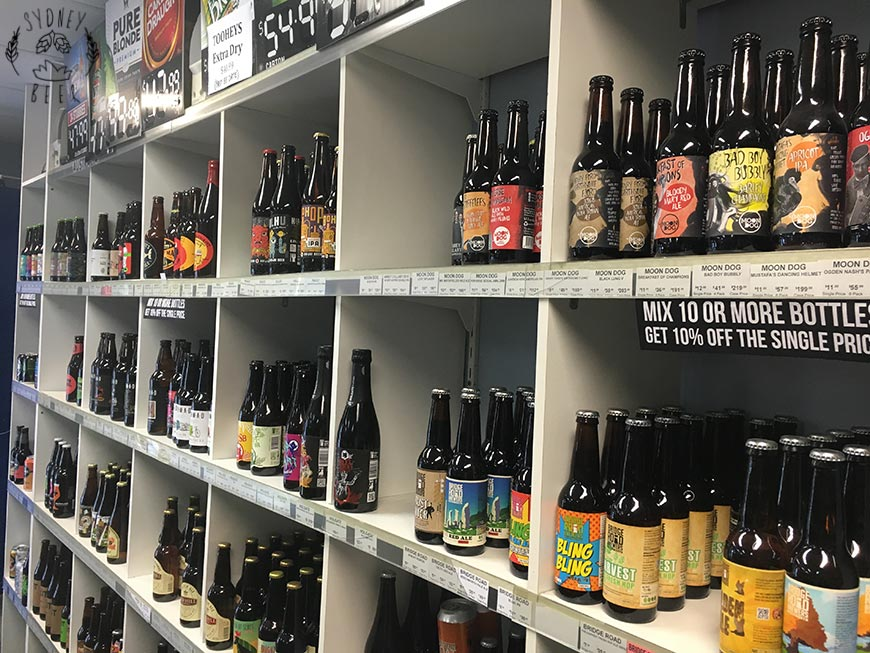 Beer Cartel shelves