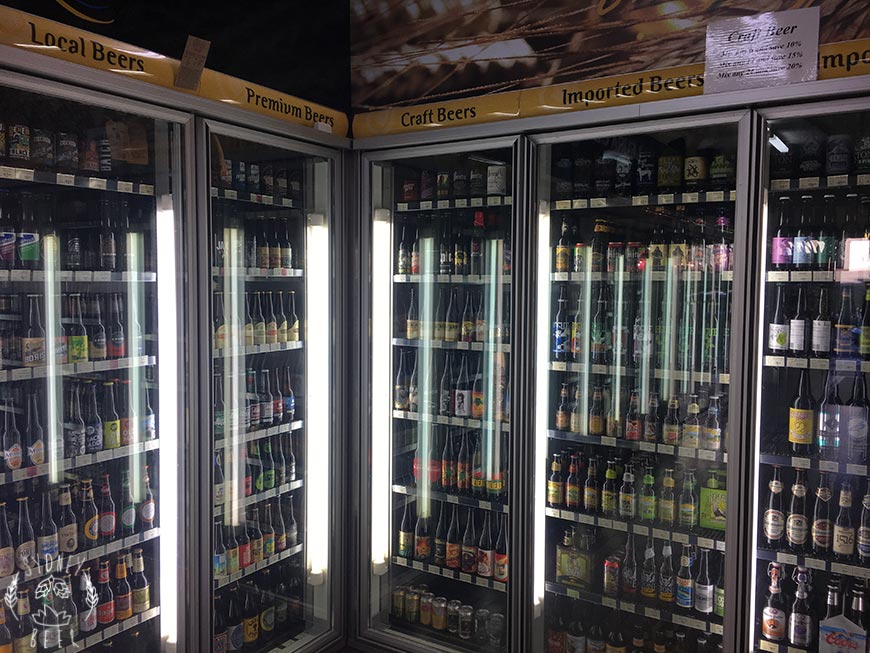 Leura Cellars beer fridge