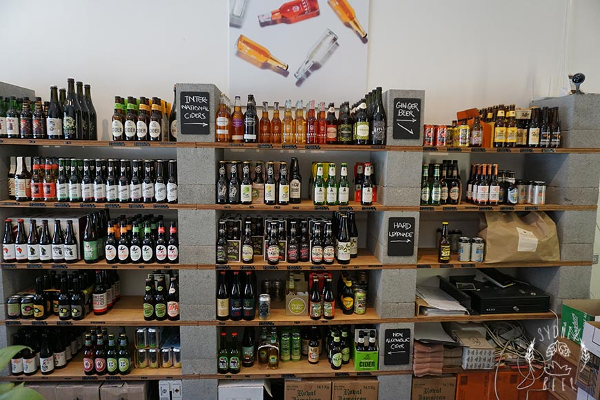 Medhurst & Sons cider shelves