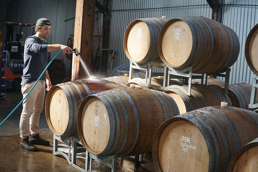 Topher Boehm - Wildflower Brewing and Blending Barrels
