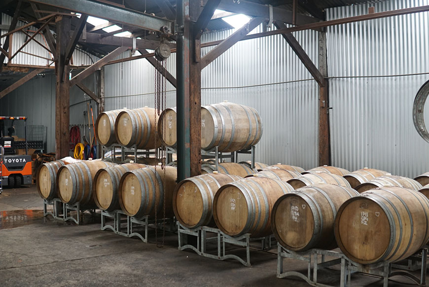 Wildflower cellar door barrels