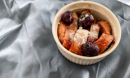 baked cherry croissant french toast