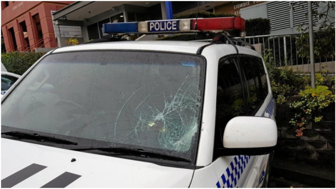 The police car damage that Dickson was jailed for