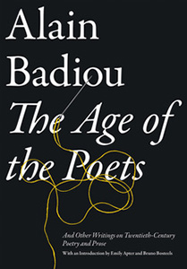 The age of poets by Alain Badiou