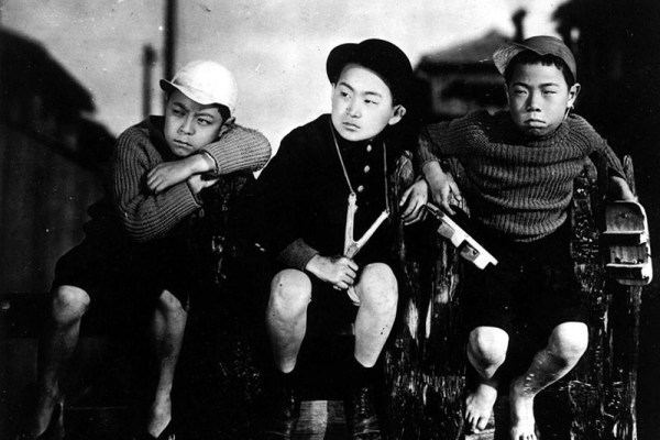 Hideo Sugawara, Seiichi Kato, Tomio Aoki (from left) from the 1932 film I Was Born, But... directed by Yasujiro Ozu
