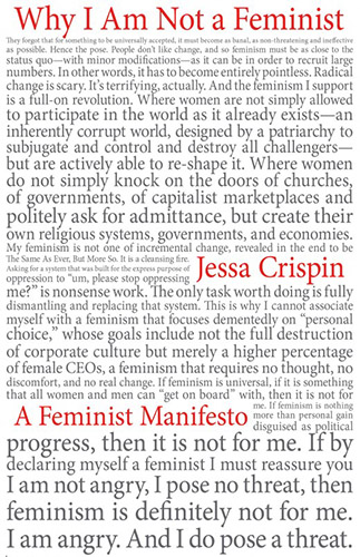 Why I am Not a Feminist A Feminist Manifesto by Jessa Crispin book cover