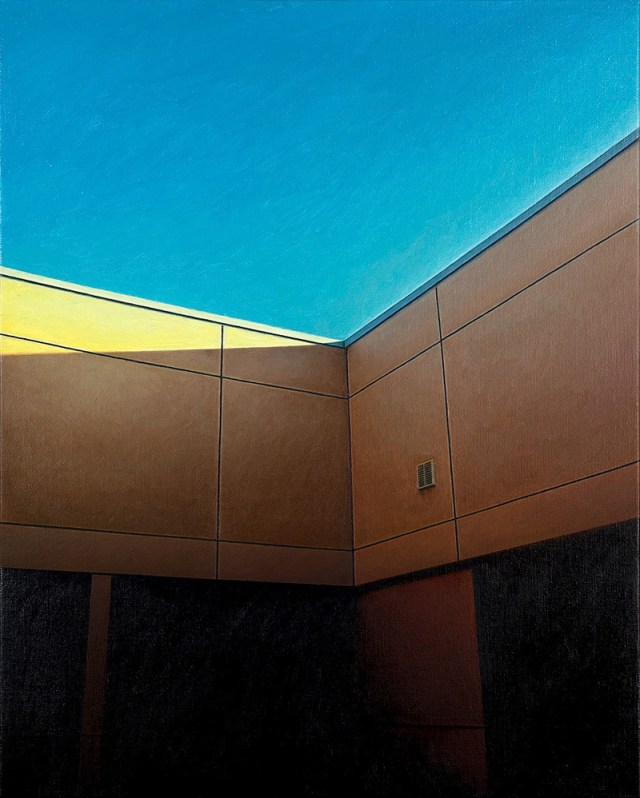 Painting: James Bonnici, Building, oil on linen.