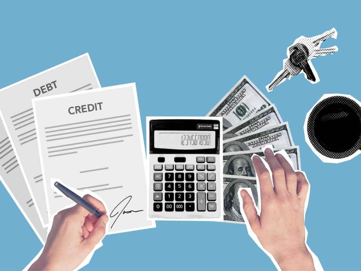 person signing loan agreement for purchase of apartment