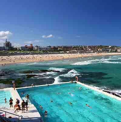 bondi pool and beach
