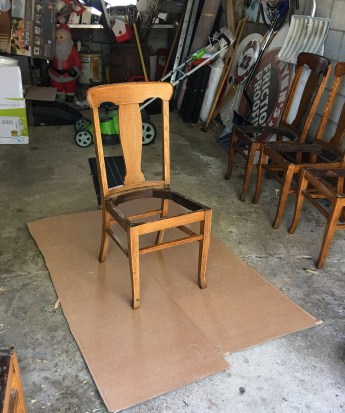 This is the chair w/o the seat before paint.