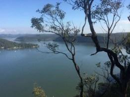 Hawkesbury view toward Dangar Island from above Little Wobby
